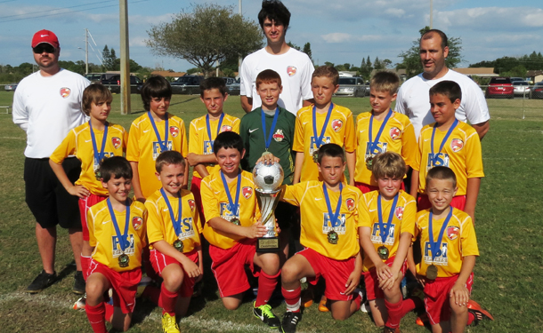 CLW U11b Yellow - West Past Jr. Showcase Champions