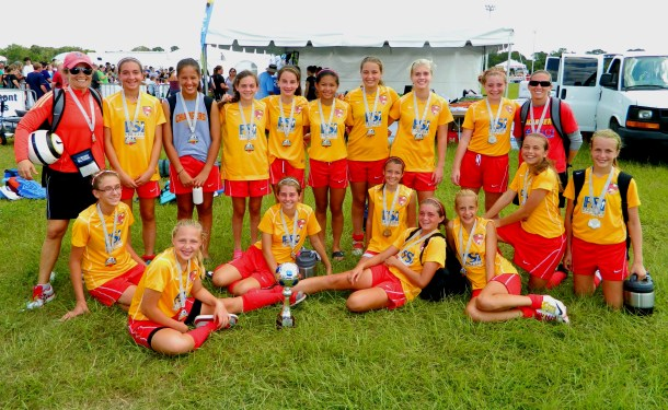 Chargers SC Shines at Labor Day Showcase