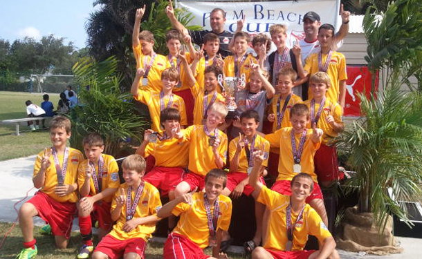 Clearwater U12b Premier & Classic Teams - Success at Palm Beach Cup