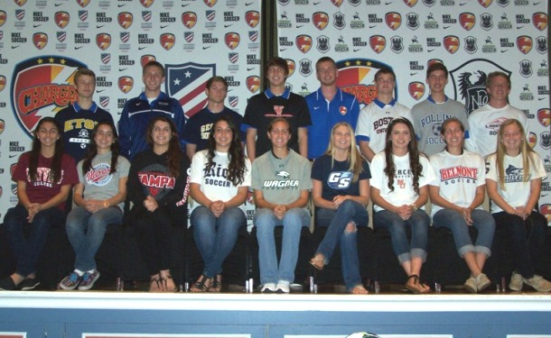 21 Chargers SC Players to Play College Soccer