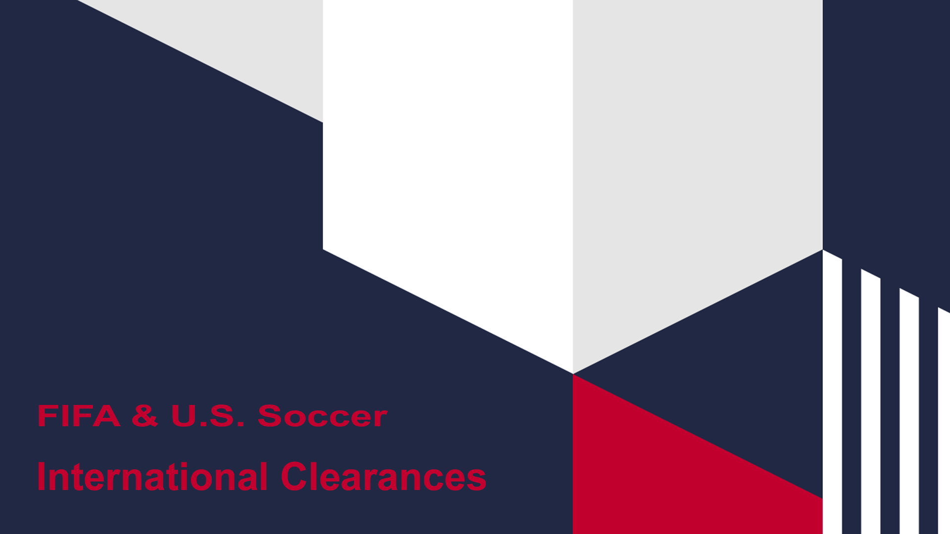 FIFA's International Clearance Process