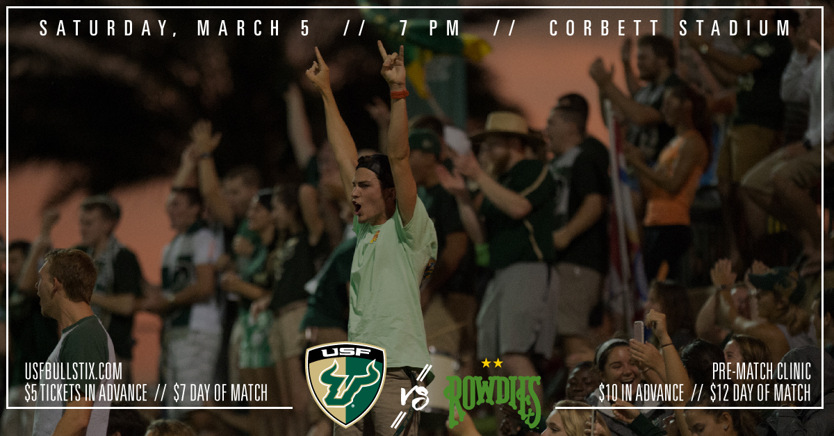 Rowdies vs USF March 5