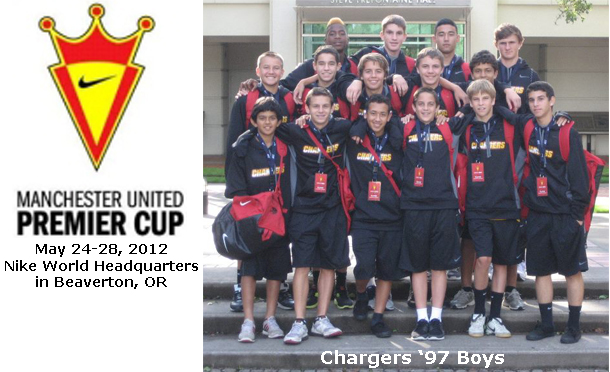 Chargers '97 Boys Compete at Manchester United Premier Cup