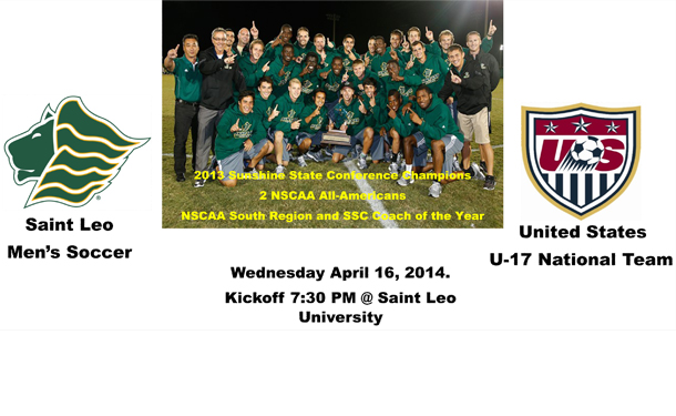 Saint Leo Men's Soccer Team vs. US U17 Men's Nat'l Team
