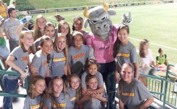 U14 Clearwater Girls Cheer on Bulls