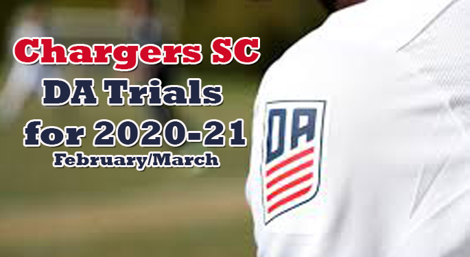Da Trials For 2020 21 Chargers Soccer Club