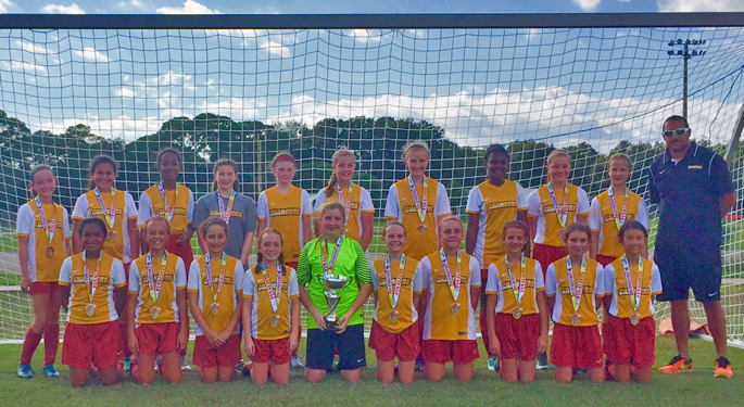 CLW Chargers U13g Take 2nd place at ACDC Tournament