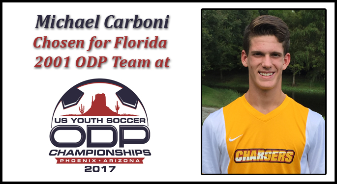 Carboni Chosen for ODP National Championships