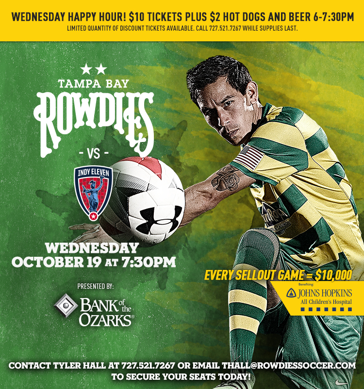 Rowdies Game 10/19/16 vs Indy Eleven