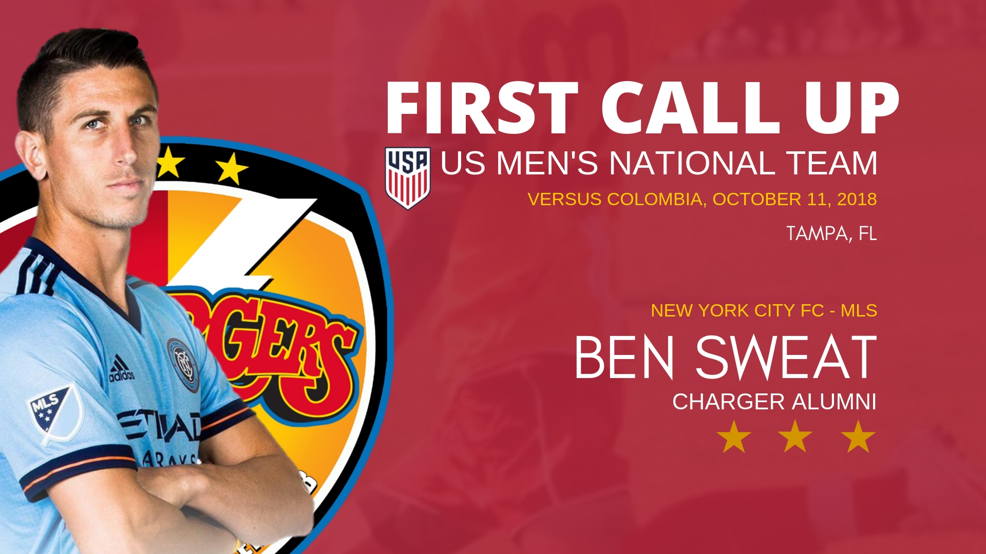 Chargers Alum Ben Sweat to USA Men's Nat'l Team