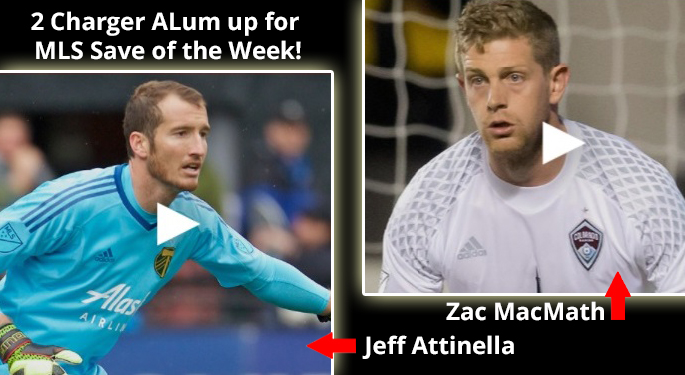 Charger Alum up for MLS Save of the Week
