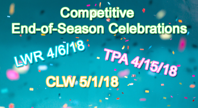 2018 Competitive End of Season Celebrations