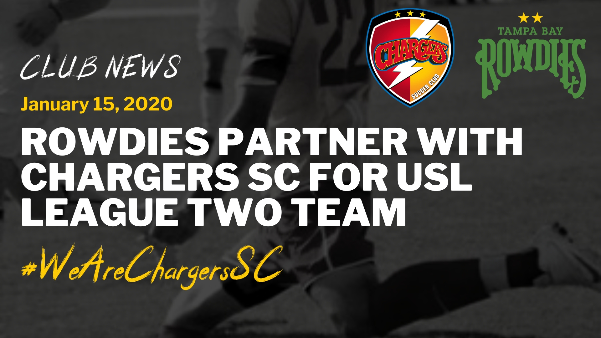 Rowdies / Chargers New Partnership