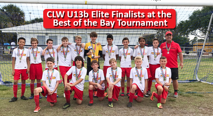 CLW U13b Best of the Bay Tourney Finalist