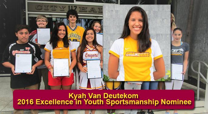 Kyah Excellence in Youth Sportsmanship Nominee