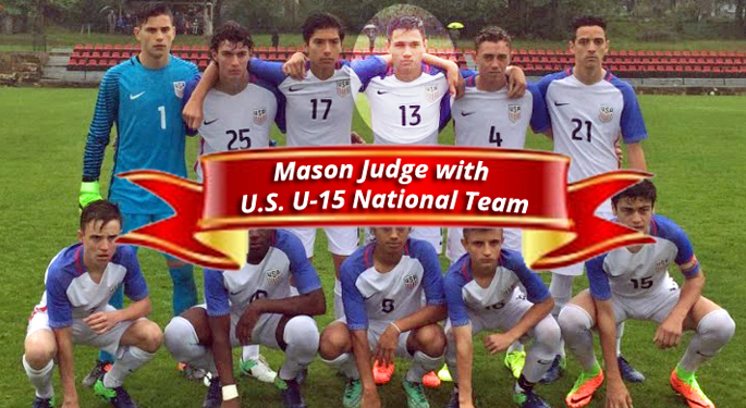 Mason Judge starting for US U-15 National Team