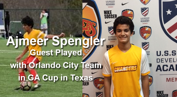 Spengler Guest Plays with Orlando City in DA Cup
